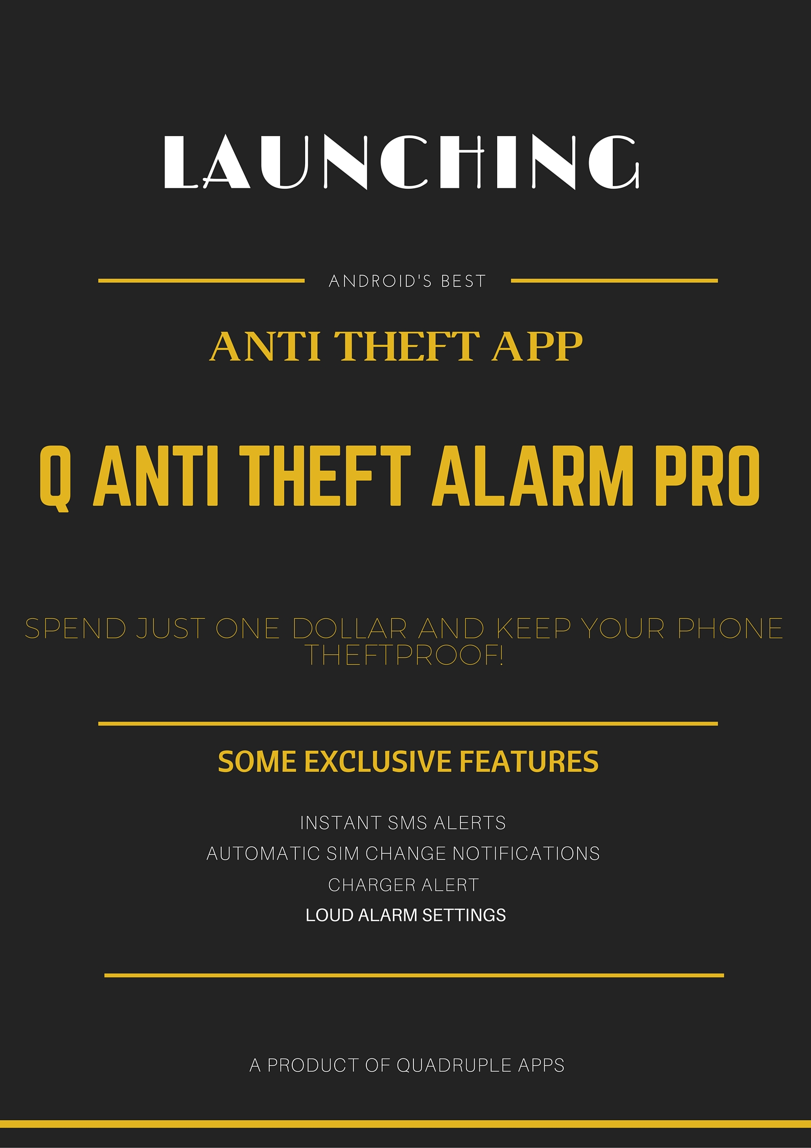 Q-Anit theft alarm Pro Mobile Application